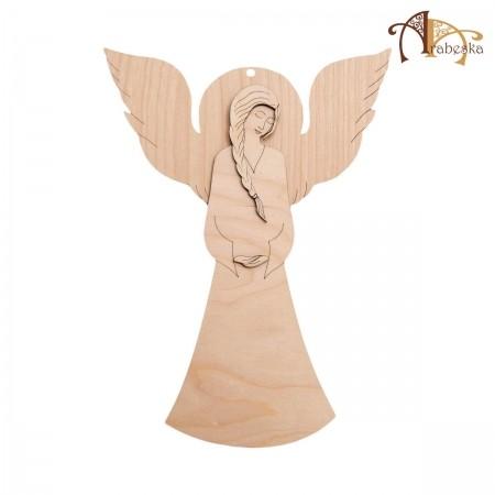 Anioł ze sklejki - wzór 1