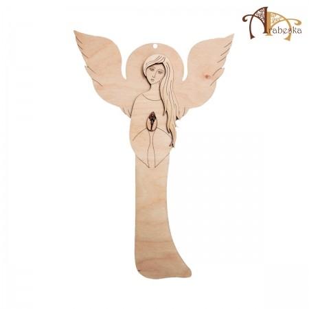 Anioł ze sklejki - wzór 2