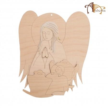 Anioł ze sklejki - nad kołyską