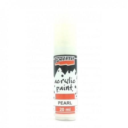 Farba akrylowa perłowa 20 ml – biały