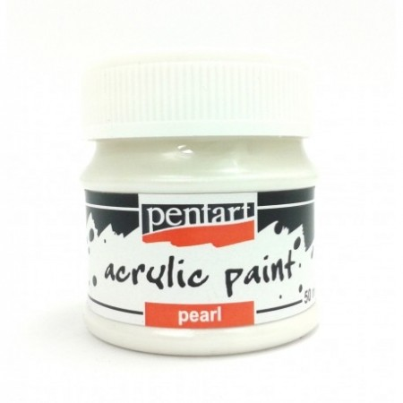 Farba akrylowa perłowa 50 ml – biały