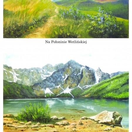 papier ryżowy - pejzaż górski
