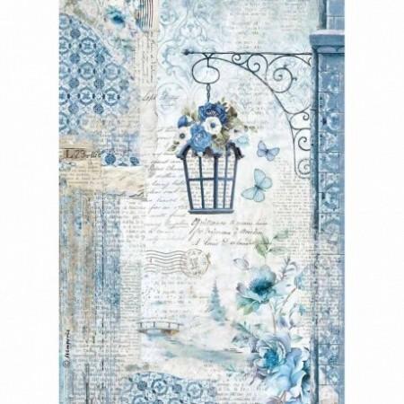 stamperia-papier-ryzowy-a4-blue-land-latarnia