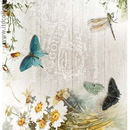 Papier ryżowy do decoupage ITD R1183 A4