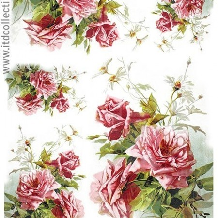 Papier ryżowy do decoupage ITD R1207 A4