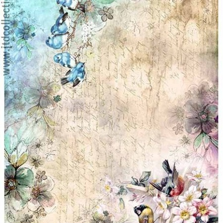 Papier ryżowy do decoupage ITD R1386 A4