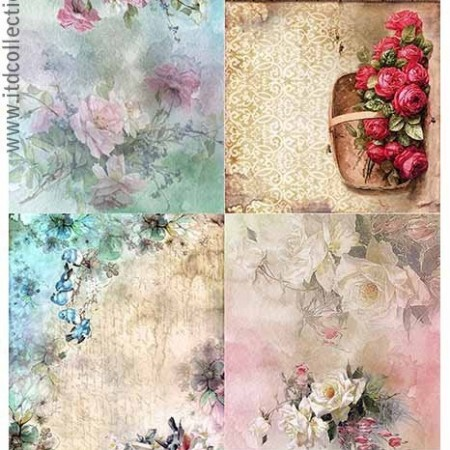 Papier ryżowy do decoupage ITD R1393 A4