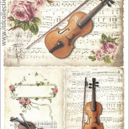 Papier ryżowy do decoupage ITD R374 A4
