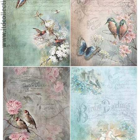 Papier ryżowy do decoupage ITD R979 A4