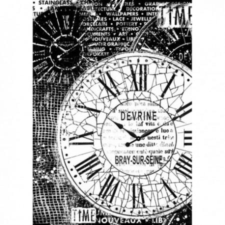 stamperia-papier-ryzowy-a4-czarno-bialy-zegary