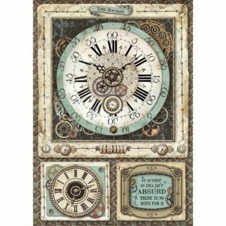 stamperia-papier-ryzowy-a4-voyages-zegar
